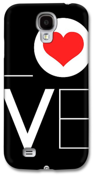 Red Mixed Media Galaxy S4 Cases - Love  Poster 7 Galaxy S4 Case by Naxart Studio
