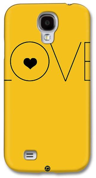 Love Digital Art Galaxy S4 Cases - Love Poster Yellow Galaxy S4 Case by Naxart Studio