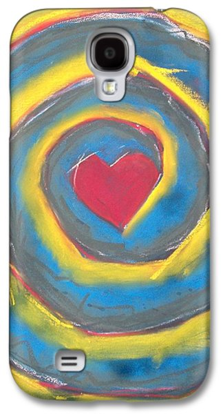 Spiral Pastels Galaxy S4 Cases - Love Spiral Galaxy S4 Case by Bauke Kamstra