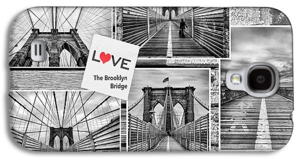 Strong America Galaxy S4 Cases - Love the Brooklyn Bridge Galaxy S4 Case by John Farnan