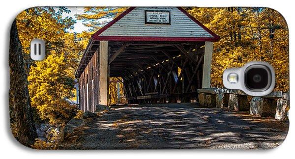 Rural Maine Roads Galaxy S4 Cases - Lovejoy Covered Bridge Galaxy S4 Case by Bob Orsillo