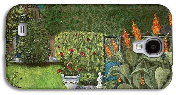Garden Scene Drawings Galaxy S4 Cases - Lovely Green Galaxy S4 Case by Anastasiya Malakhova