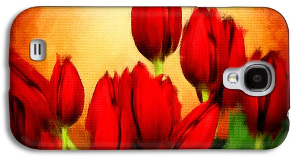 Floral Digital Art Galaxy S4 Cases - Lovers Hearts Galaxy S4 Case by Lourry Legarde