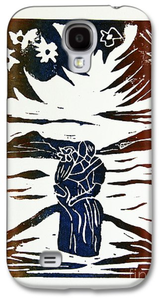 Lovers - Lino Cut A La Gauguin Galaxy S4 Case by Christiane Schulze Art And Photography