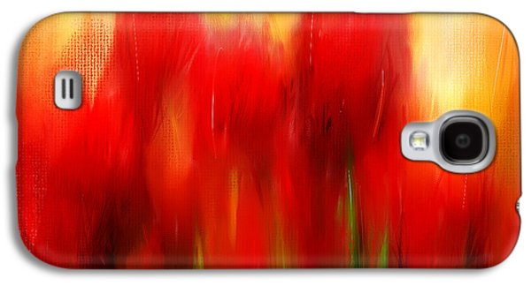 Spring Bulbs Paintings Galaxy S4 Cases - Loving Memories Galaxy S4 Case by Lourry Legarde