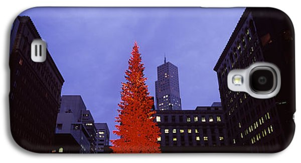 Downtown San Francisco Galaxy S4 Cases - Low Angle View Of A Christmas Tree, San Galaxy S4 Case by Panoramic Images