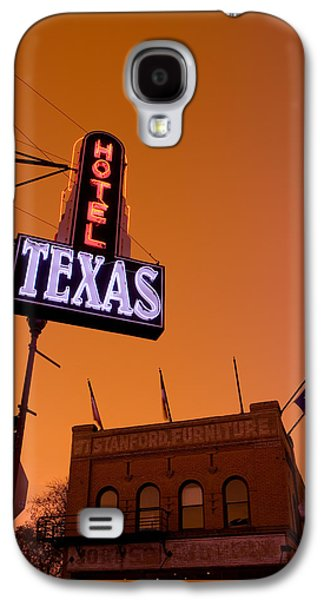Locations Galaxy S4 Cases - Low Angle View Of A Neon Sign Galaxy S4 Case by Panoramic Images