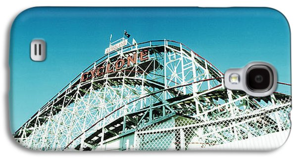 Rollercoaster Photographs Galaxy S4 Cases - Low Angle View Of A Rollercoaster Galaxy S4 Case by Panoramic Images