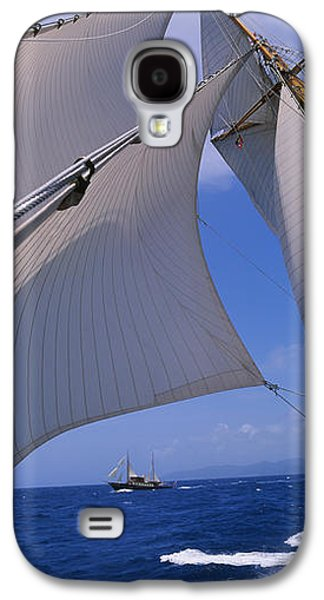 Sailboat Images Galaxy S4 Cases - Low Angle View Of A Sailboats Mast Galaxy S4 Case by Panoramic Images