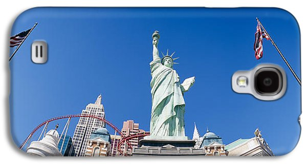 Rollercoaster Photographs Galaxy S4 Cases - Low Angle View Of A Statue, Replica Galaxy S4 Case by Panoramic Images