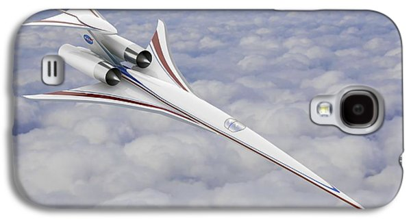 Concept Photographs Galaxy S4 Cases - Low-boom Supersonic Aircraft, Artwork Galaxy S4 Case by Nasa