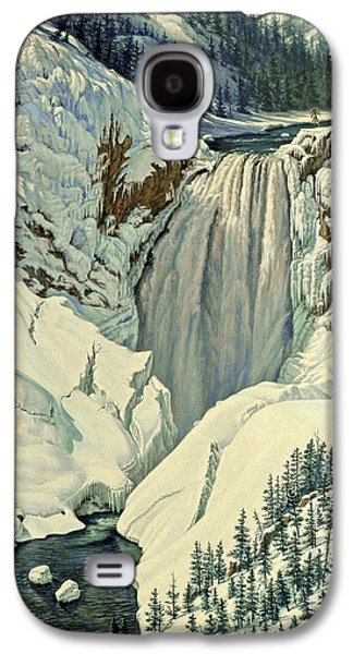 Waterfalls Paintings Galaxy S4 Cases - Lower Falls-April Galaxy S4 Case by Paul Krapf