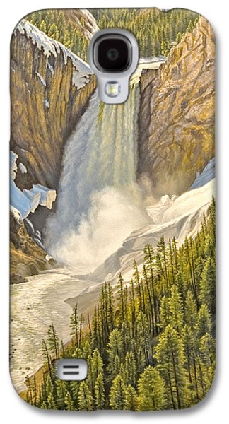 Waterfalls Paintings Galaxy S4 Cases - Lower Falls-May   Galaxy S4 Case by Paul Krapf