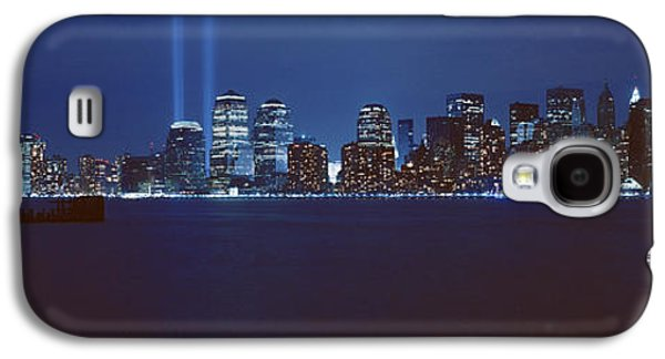 Wtc 11 Galaxy S4 Cases - Lower Manhattan, Beams Of Light, Nyc Galaxy S4 Case by Panoramic Images