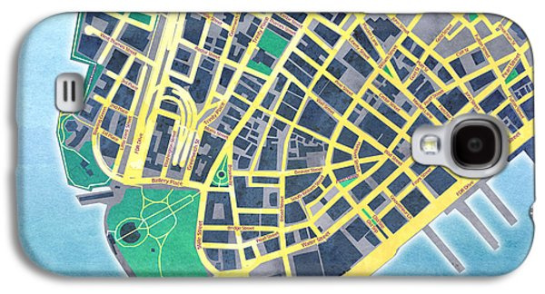 """digital Abstract"" Galaxy S4 Cases - Lower Manhattan Galaxy S4 Case by Gary Grayson"