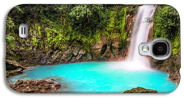 Outdoors Galaxy S4 Cases - Lower Rio Celeste Waterfall Galaxy S4 Case by Andres Leon