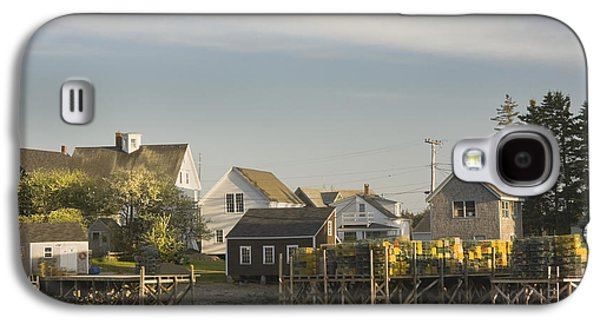 Coastal Maine Galaxy S4 Cases - Lowtide in Port Clyde Maine Galaxy S4 Case by Keith Webber Jr