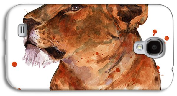 Lioness Galaxy S4 Cases - Loyal Lion Galaxy S4 Case by Alison Fennell
