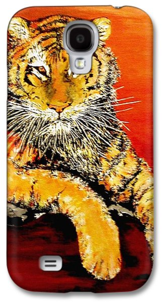 The Tiger Paintings Galaxy S4 Cases - LSU Tiger Galaxy S4 Case by Stephen Broussard