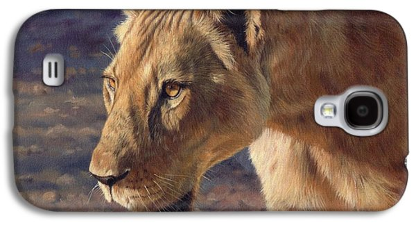 Lioness Galaxy S4 Cases - Luangwa Princess  Galaxy S4 Case by David Stribbling