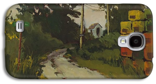 Maine Roads Paintings Galaxy S4 Cases - Lubee Lane Galaxy S4 Case by Bill Tomsa