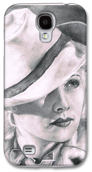 Drawing Galaxy S4 Cases - Lucille Ball Galaxy S4 Case by Ryan Jacobson
