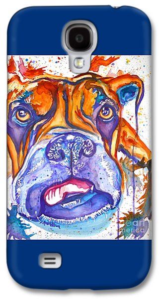 Boxer Galaxy S4 Cases - Lucille Boxer Blues  Galaxy S4 Case by D Renee Wilson