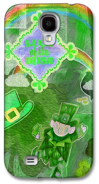 Irish Folklore Galaxy S4 Cases - Luck of the Irish - Painterly Collage Galaxy S4 Case by Steve Ohlsen