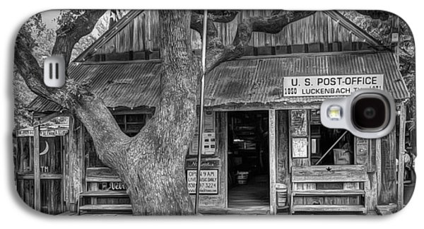 Country Store Galaxy S4 Cases - Luckenbach 2 Black and White Galaxy S4 Case by Scott Norris