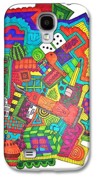 Drawing Galaxy S4 Cases - Lucky Galaxy S4 Case by Chelsea Geldean