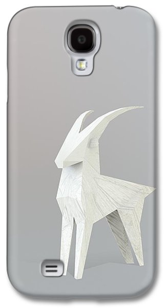 Goat Digital Art Galaxy S4 Cases - Lucky Mourning Galaxy S4 Case by Pollyanna Illustration