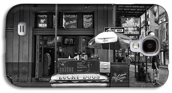 Lucky Dogs Galaxy S4 Cases - Lucky on Bourbon Street mono Galaxy S4 Case by John Rizzuto
