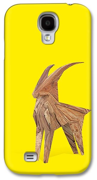 Goat Digital Art Galaxy S4 Cases - Lucky Rampant Galaxy S4 Case by Pollyanna Illustration