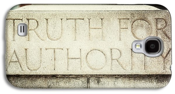 Lucretia Mott Truth For Authority Galaxy S4 Case by Lisa Russo