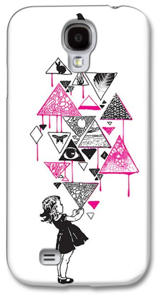 Girl Galaxy S4 Cases - Lucy in the sky Galaxy S4 Case by Budi Kwan