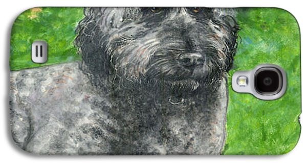 Portraits Ceramics Galaxy S4 Cases - Lucy the Goldendoodle Galaxy S4 Case by Dy Witt