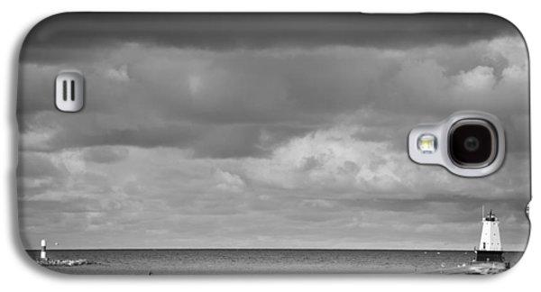 Shore Galaxy S4 Cases - Ludington Black and White Galaxy S4 Case by Sebastian Musial