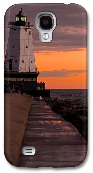 Sailing Galaxy S4 Cases - Ludington Pier and Lighthouse Galaxy S4 Case by Sebastian Musial