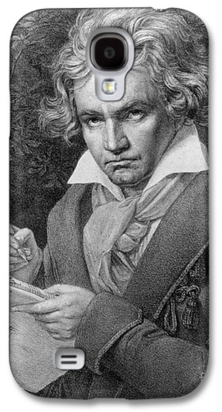 Historical Figures Galaxy S4 Cases - Ludwig van Beethoven Galaxy S4 Case by Joseph Carl Stieler