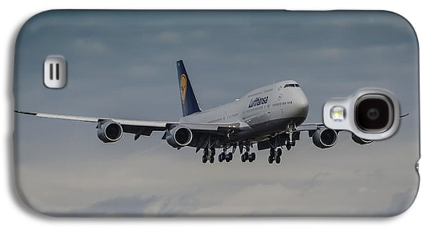 Airliner Galaxy S4 Cases - Lufthansa Boeing 747 Landing  Galaxy S4 Case by Puget  Exposure