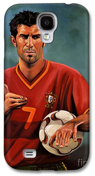 League Galaxy S4 Cases - Luis Figo Galaxy S4 Case by Paul  Meijering