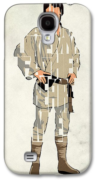 Minimalist Poster Galaxy S4 Cases - Luke Skywalker - Mark Hamill  Galaxy S4 Case by Ayse Deniz
