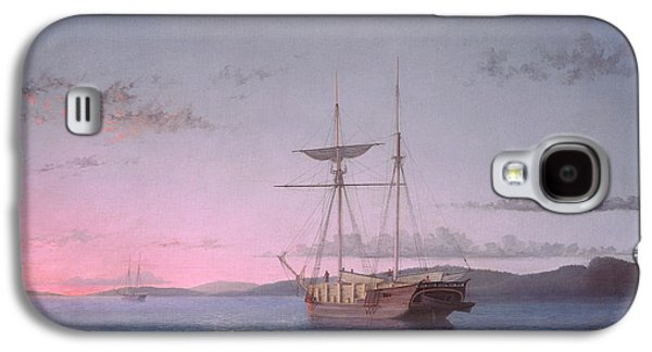Penobscot Bay Paintings Galaxy S4 Cases - Lumber Schooners at Evening on Penobscot Bay Galaxy S4 Case by Fitz Henry Lane