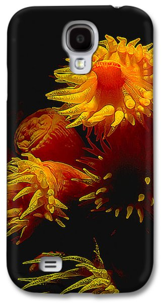 Photo Manipulation Photographs Galaxy S4 Cases - Luminous Anemones Galaxy S4 Case by Bill Caldwell -        ABeautifulSky Photography