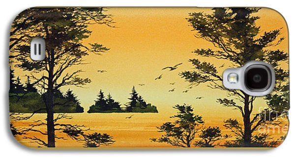 Sunset Framed Prints Galaxy S4 Cases - Luminous Sunset Galaxy S4 Case by James Williamson