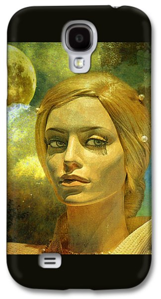 Original Art Galaxy S4 Cases - Luna in the Garden of Evil Galaxy S4 Case by Chuck Staley