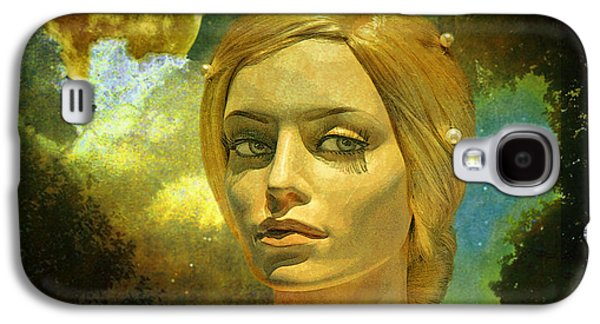 Mixed Media Galaxy S4 Cases - Luna in the Garden of Evil Galaxy S4 Case by Chuck Staley