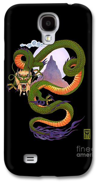 Buy Galaxy S4 Cases - Lunar Chinese Dragon on Black Galaxy S4 Case by Melissa A Benson