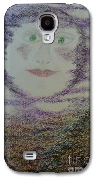 Tripple Galaxy S4 Cases - Lunas Smile Galaxy S4 Case by Yve Hockenbury Moore