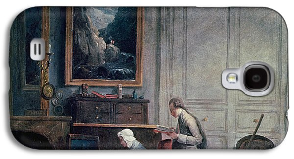 Self-improvement Galaxy S4 Cases - Lunch Of Madame Geoffrin Oil On Canvas Galaxy S4 Case by Hubert Robert